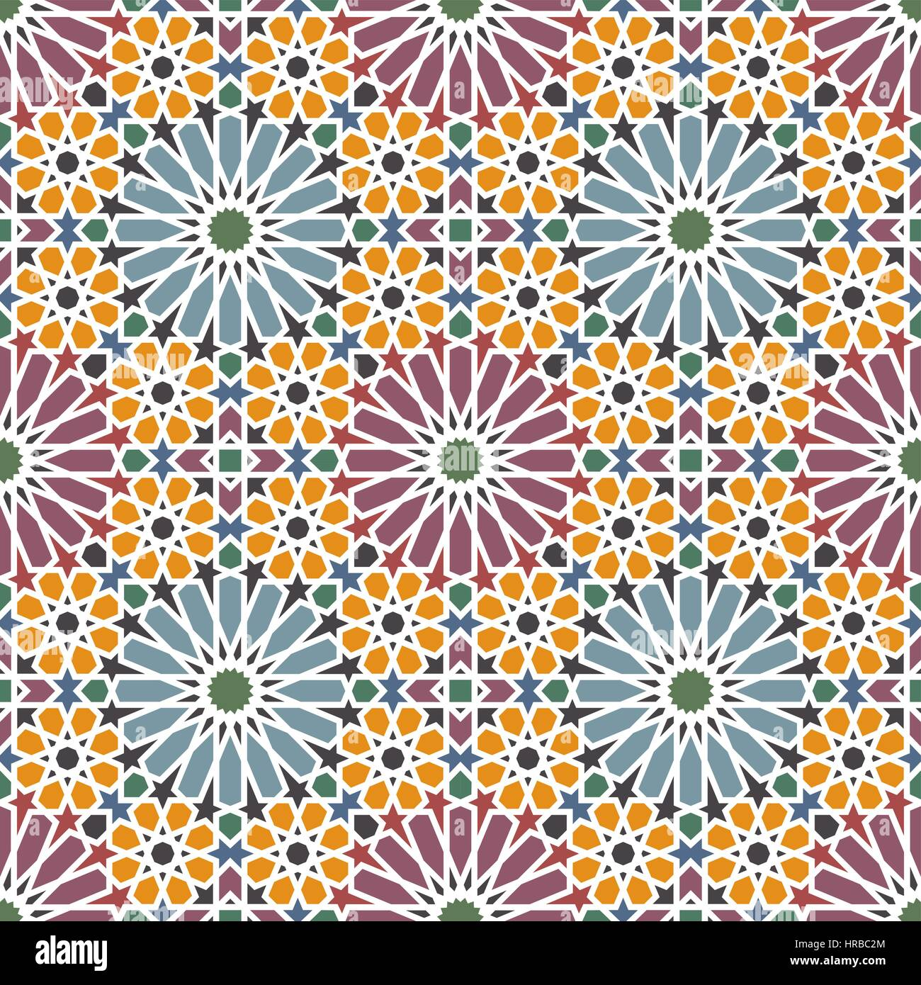 Arabesque. Traditional Arabian mosaic tile. Seamless pattern. Vector ...