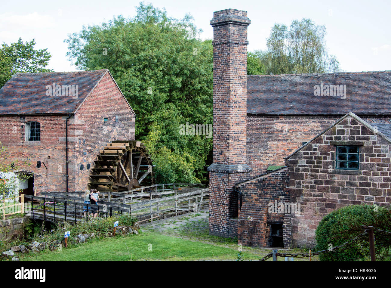 Buildings of the Cheddleton Flint Mill, Staffordshire, UK - Stock Image
