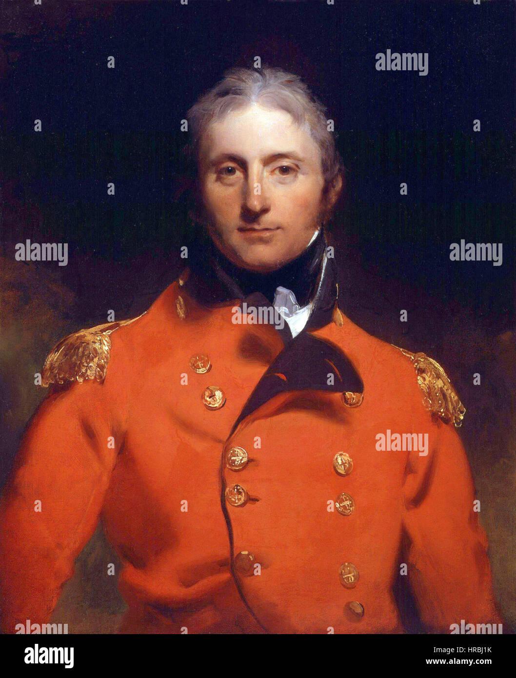 Sir John Moore by Sir Thomas Lawrence - Stock Image