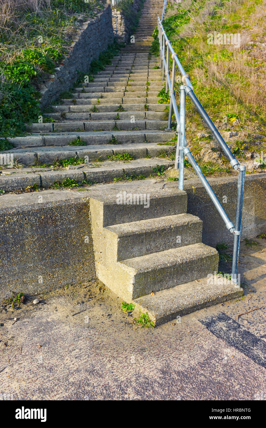 Steps to nowhere - Stock Image
