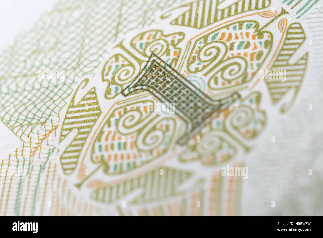 Macro photo detail of Chinese 1 Yuan banknote. Metaphor for Chinese economy, spending power and consumerism. Stock Photo