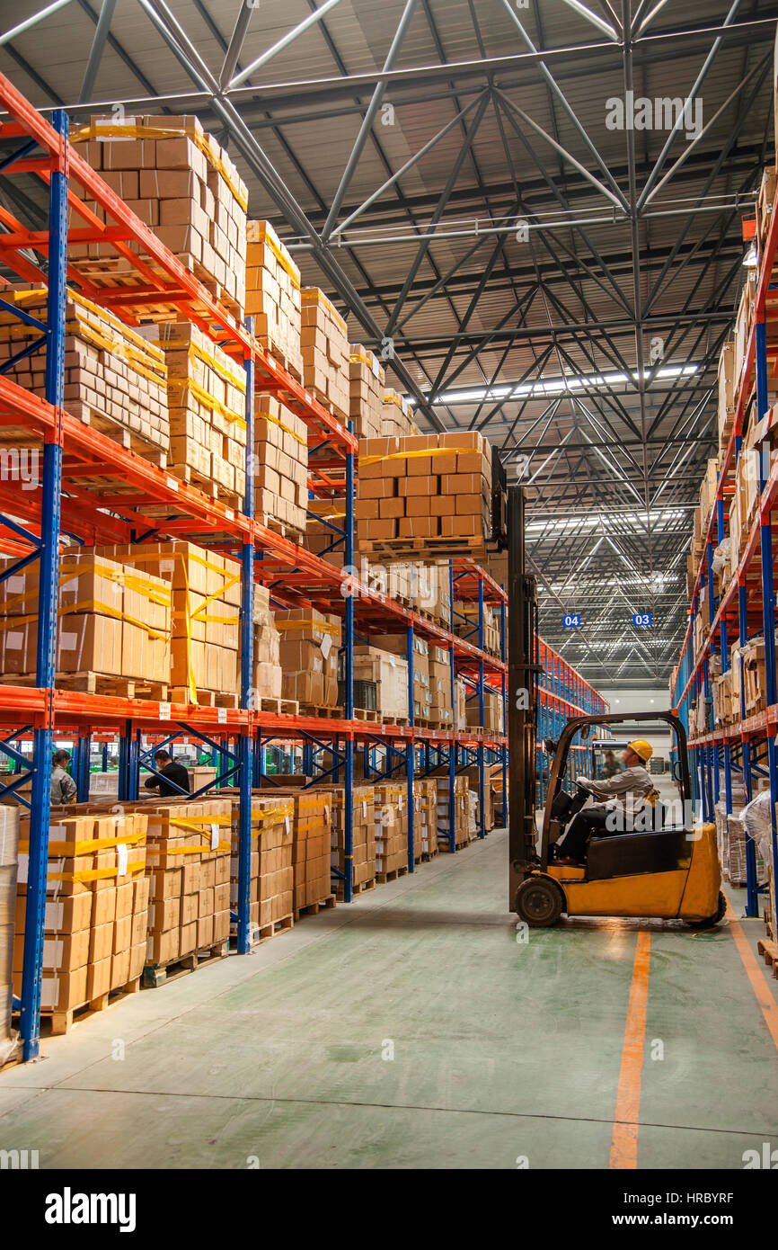 Warehouse logistics - Stock Image