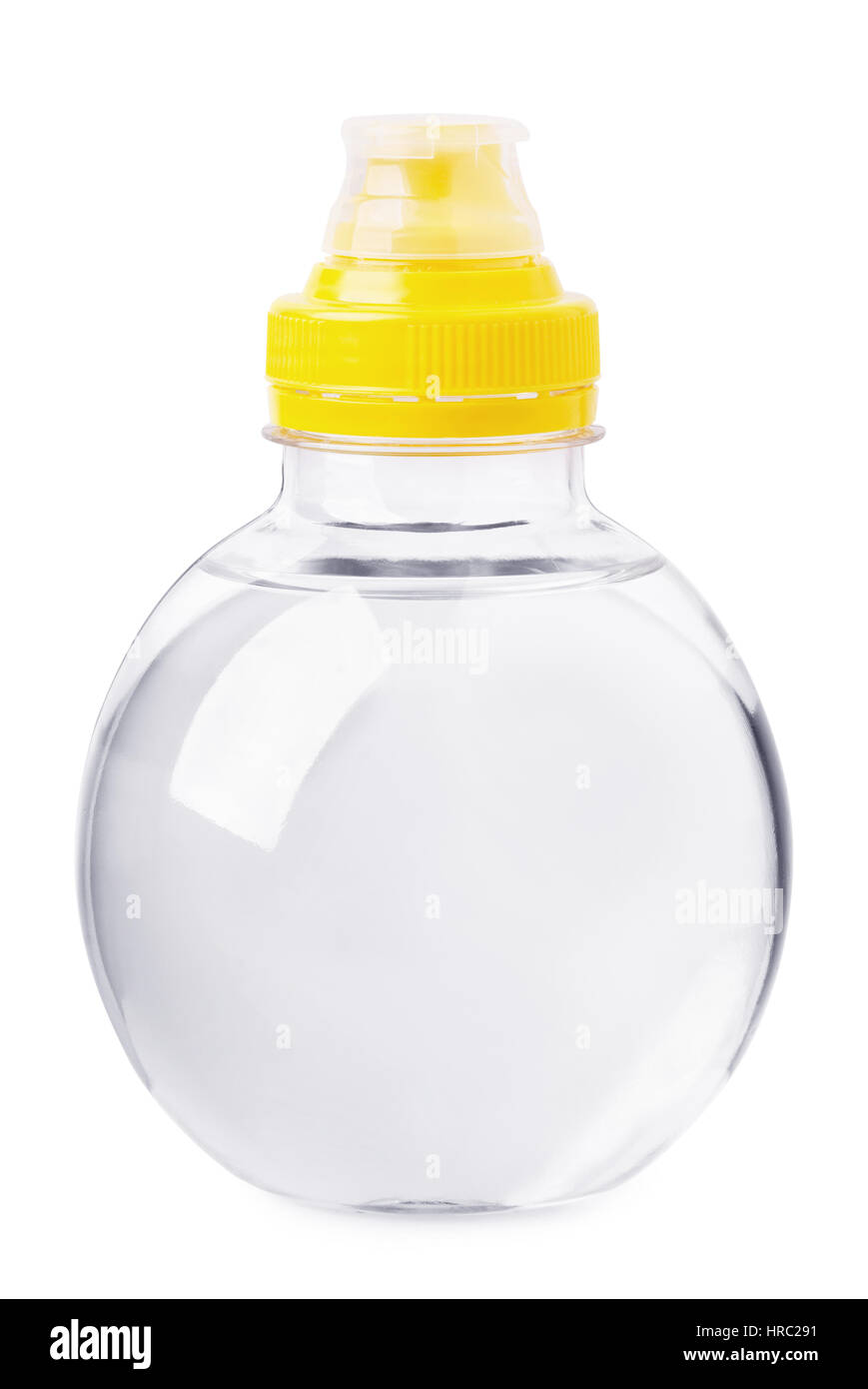 Small water bottle isolated on a white background - Stock Image