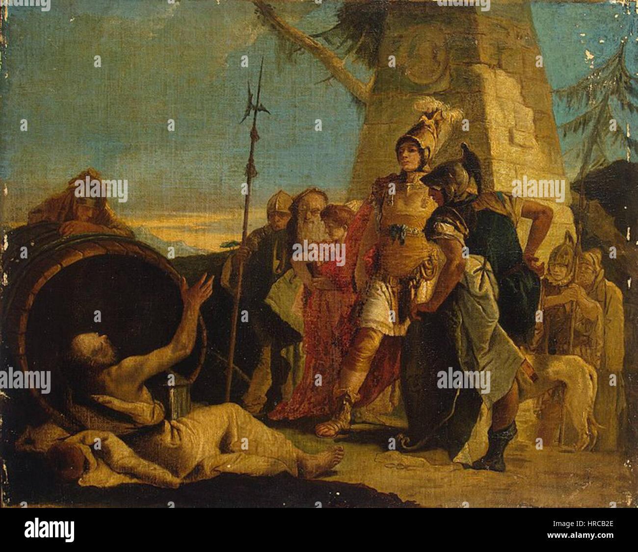 Giovanni Battista Tiepolo - Alexander the Great and Diogenes Stock Photo