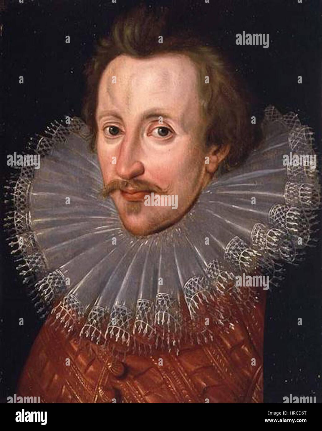 Sir Philip Sidney Bolton Portrait - Stock Image