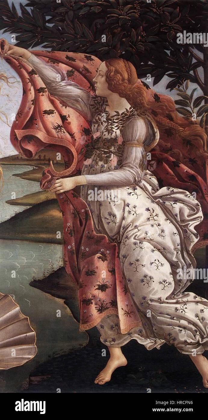 Sandro Botticelli - The Birth of Venus (detail) - WGA2775 Stock Photo