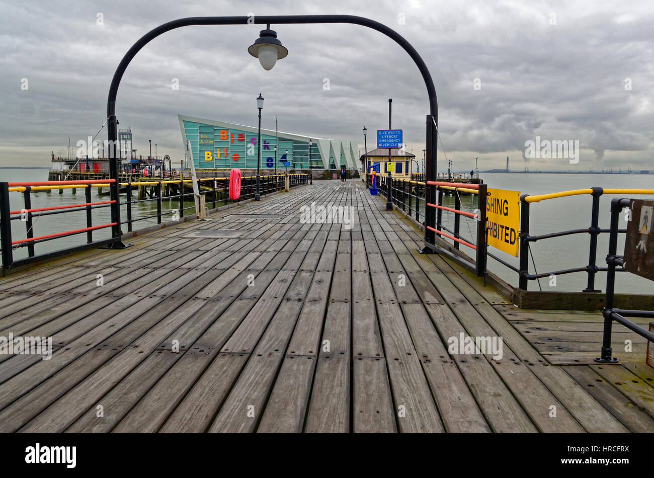 Southend Pier, The Longest Pier in the World, Southend-on-Sea, Essex, Britain - Stock Image