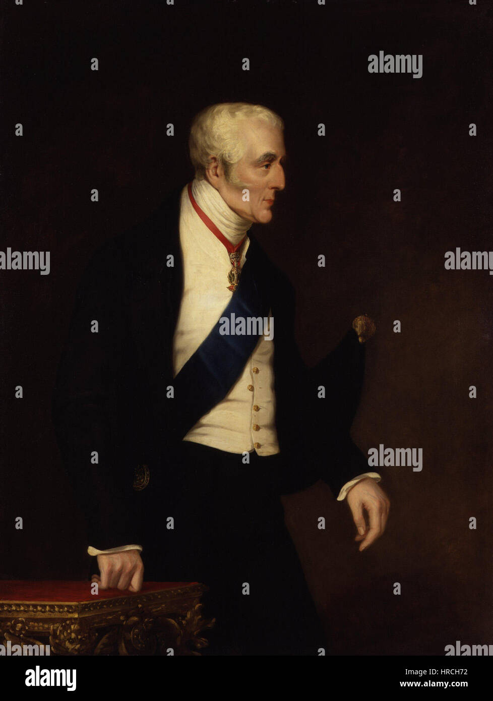 Arthur Wellesley, 1st Duke of Wellington by Alfred, Count D'Orsay - Stock Image