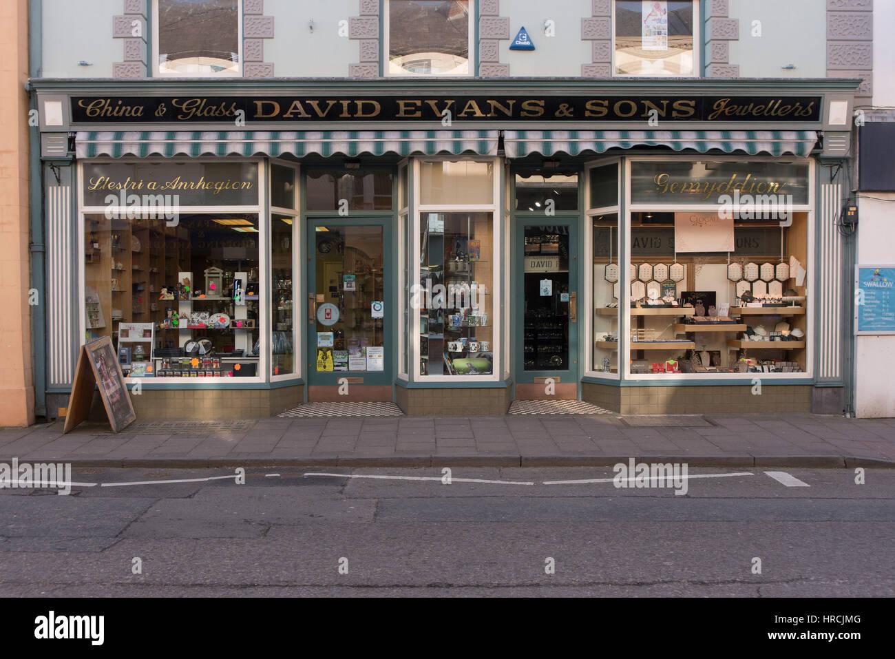 Cardigan Wales Jeweller Stock Photo