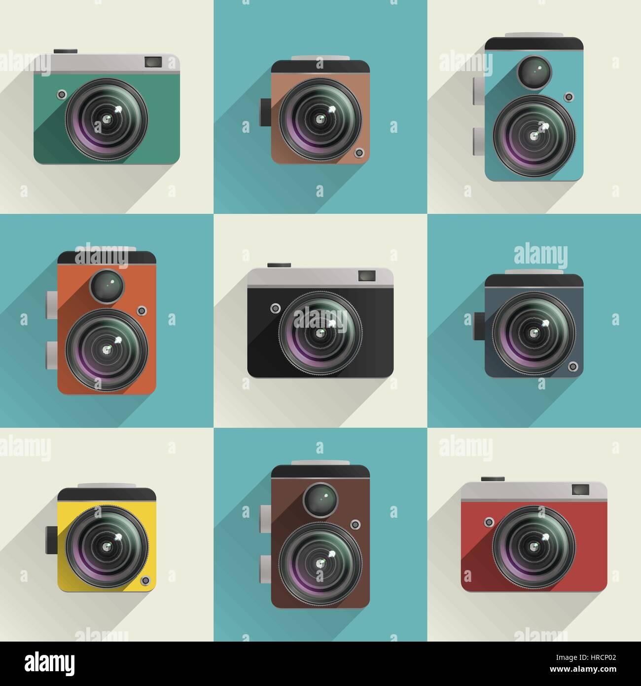 Camera icons Stock Vector