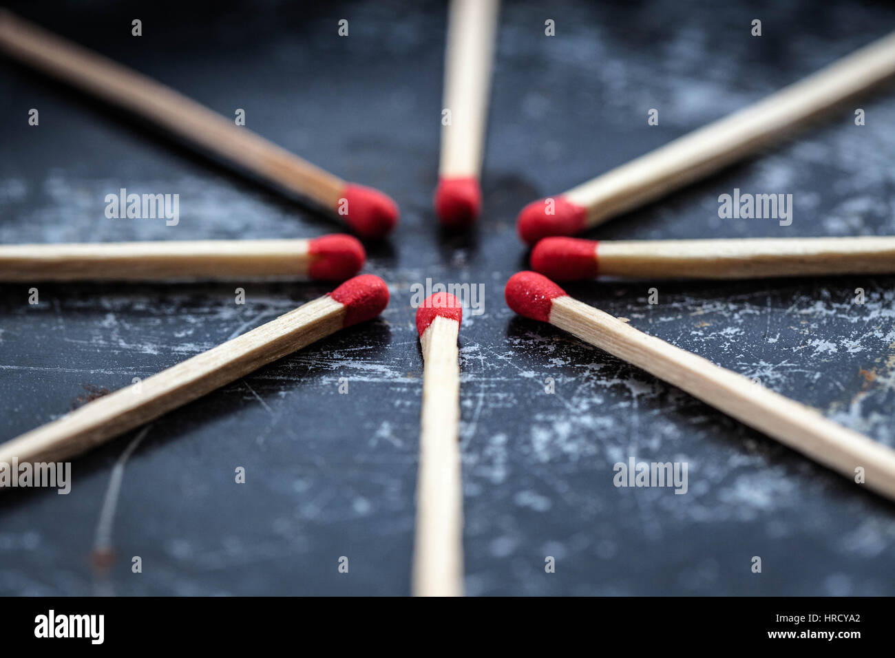 Converging matches - Stock Image