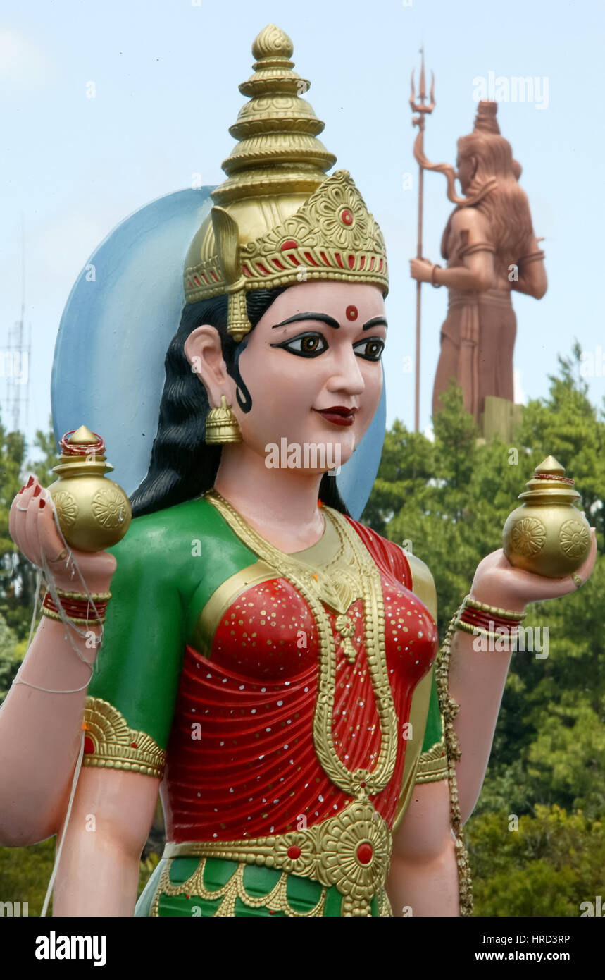 Mauritius, Grand Bassin, Holy Lake, Gods figures, Hindu Sanctuary, Praying, Meditating, Mauritius, Grand Bassin, - Stock Image