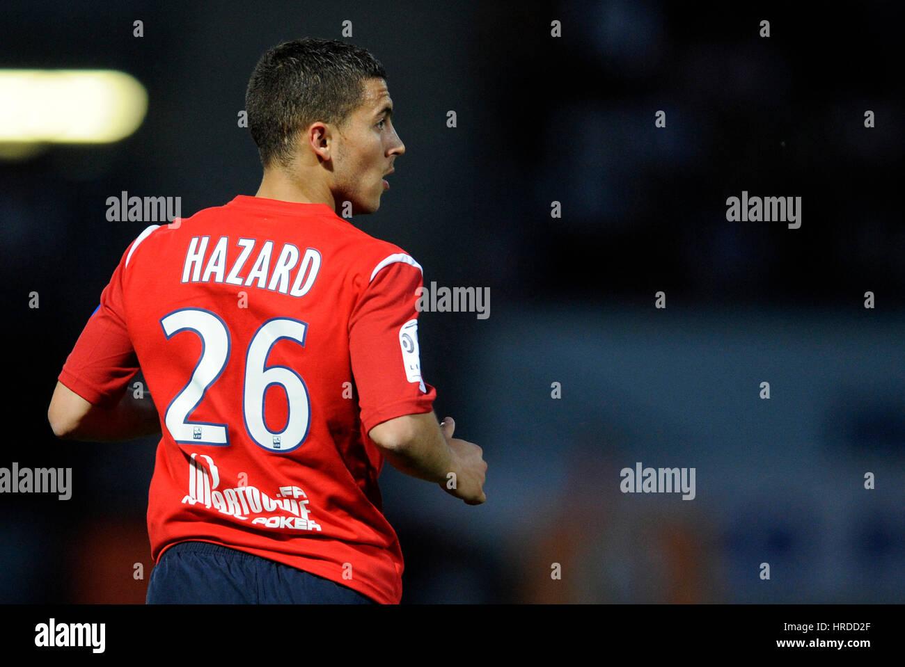 buy popular c2e35 d717c 20110507 NANCY, FRANCE: Belgian Eden Hazard of Lille OSC in ...