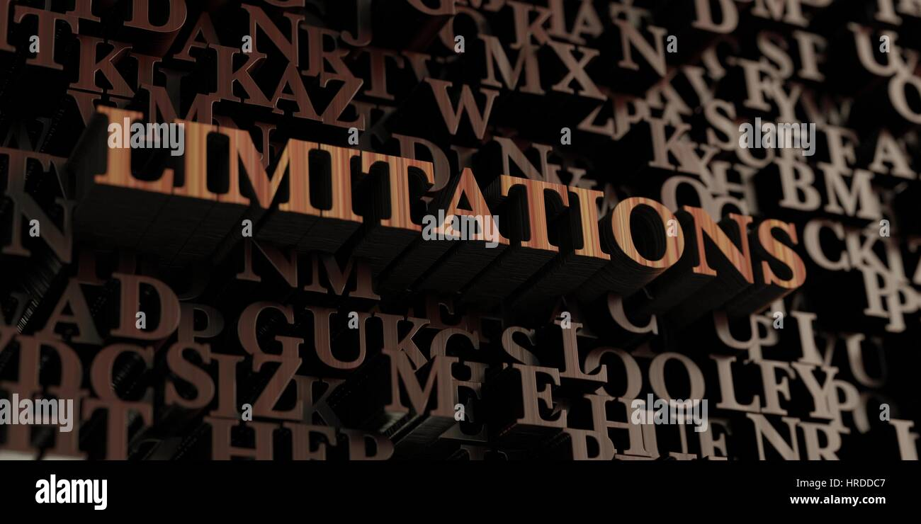 Limitations - Wooden 3D rendered letters/message.  Can be used for an online banner ad or a print postcard. - Stock Image