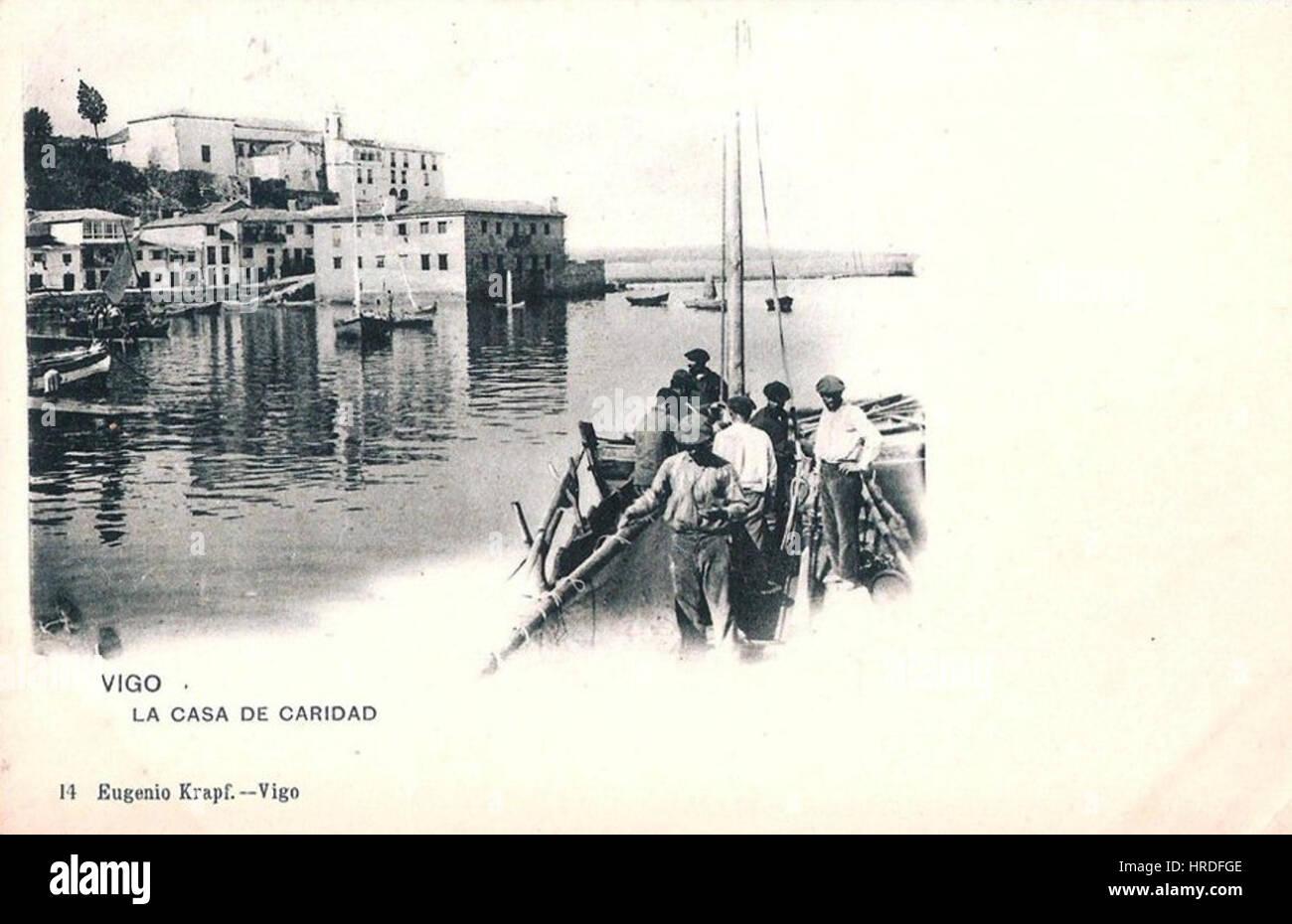 Vigo, LA CASA DE CARIDAD, Eugenio Krapf - Stock Image