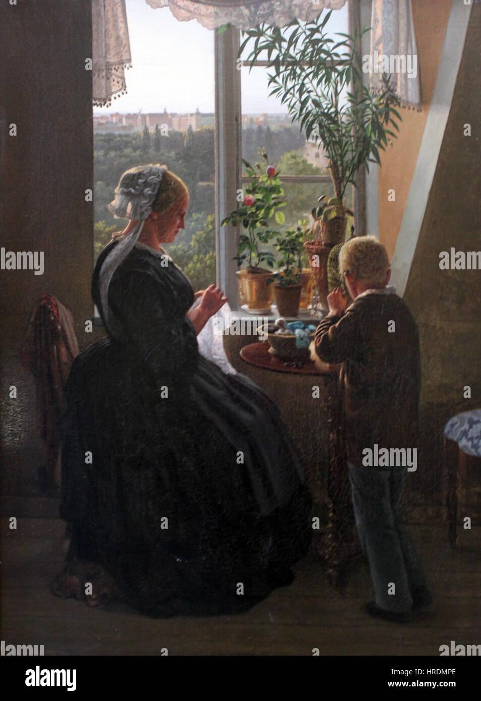 1858 Jessen Der Blick aus dem Fenster anagoria Stock Photo