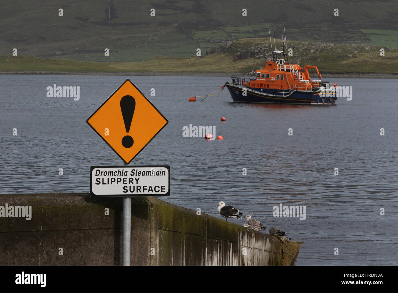 The Valentia Island Lifeboat - RNLB John and Margaret Doig - at Knightstown, Valentia Island, County Kerry, Ireland. - Stock Image