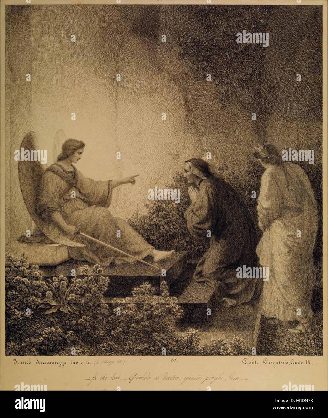 Francesco Scaramuzza - Purgatorio, Canto IX (Angelo guardiano) Stock Photo