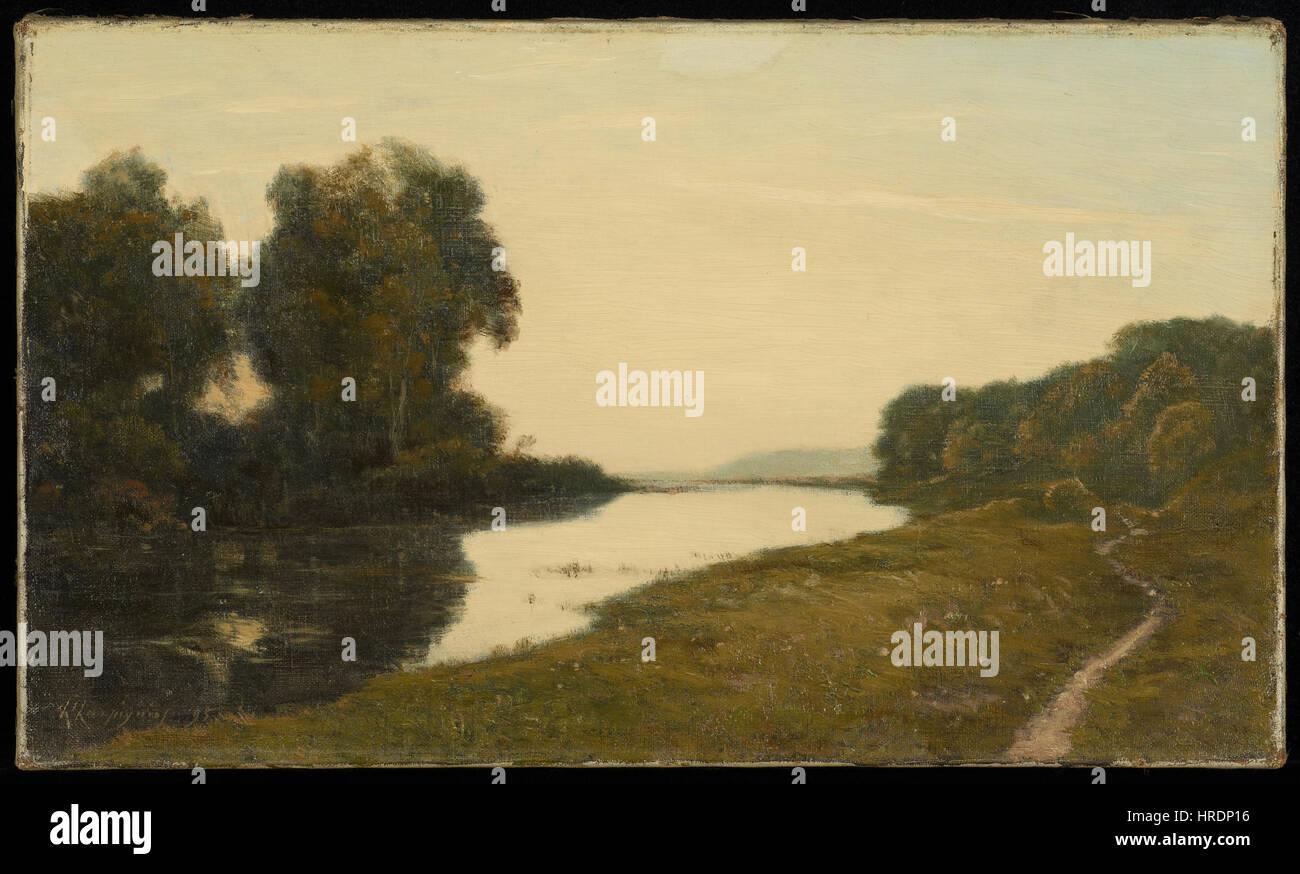 Henri-Joseph Harpignies - View of a Stream - 65.18.3 - Minneapolis Institute of Arts - Stock Image