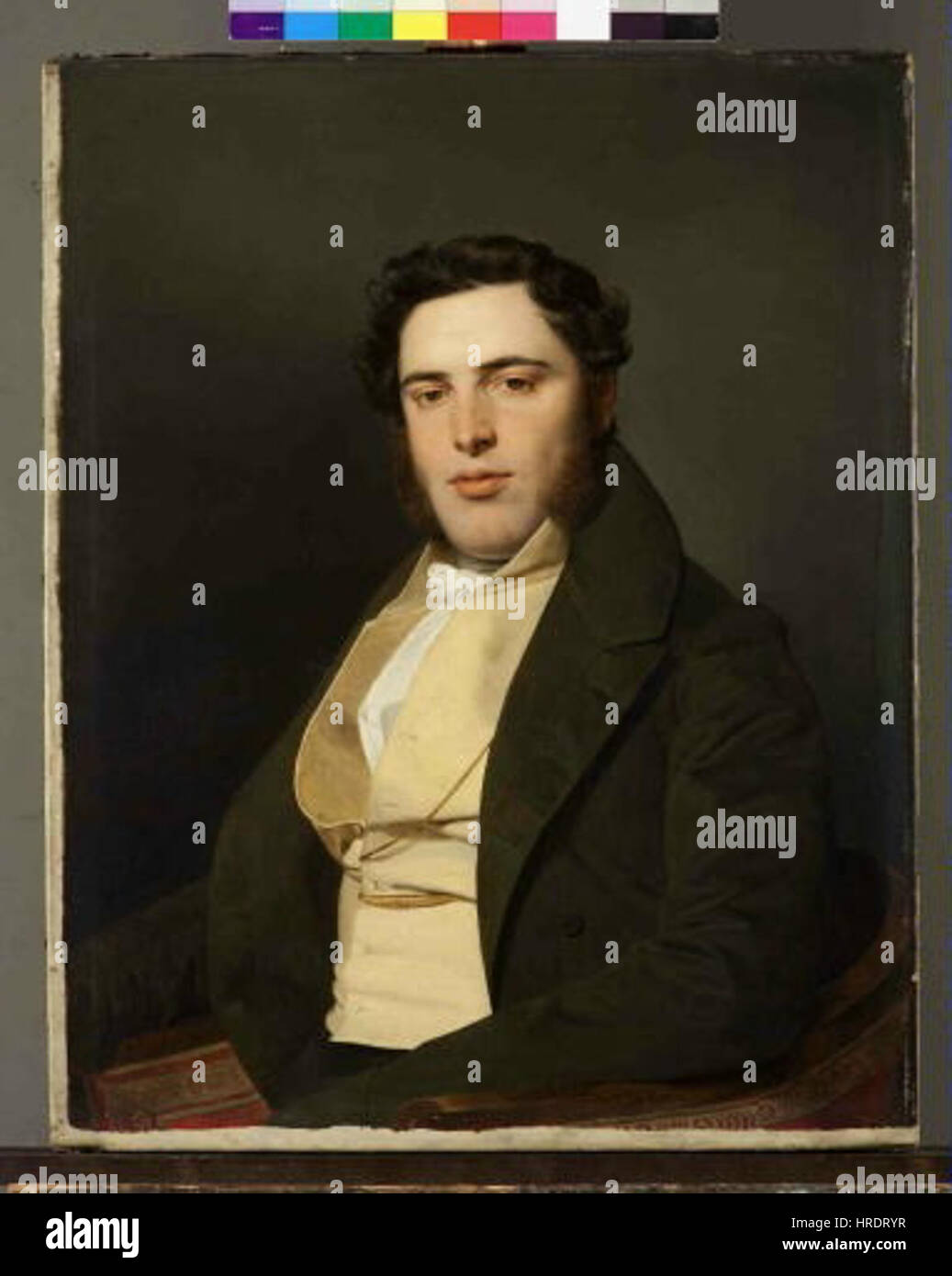 Ferdinand Georg Waldmuller 1793-1865 - Podobizna mladeho muze - Podobizna Matyase Josefa Vollgrubera - Stock Image