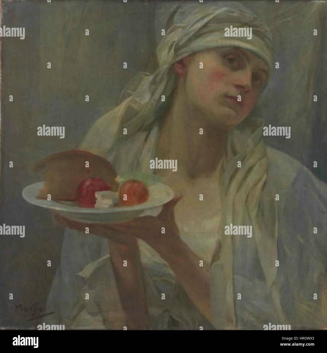 Alfons Mucha 24.7.1860-14.7.1939 - Samaritanka Stock Photo