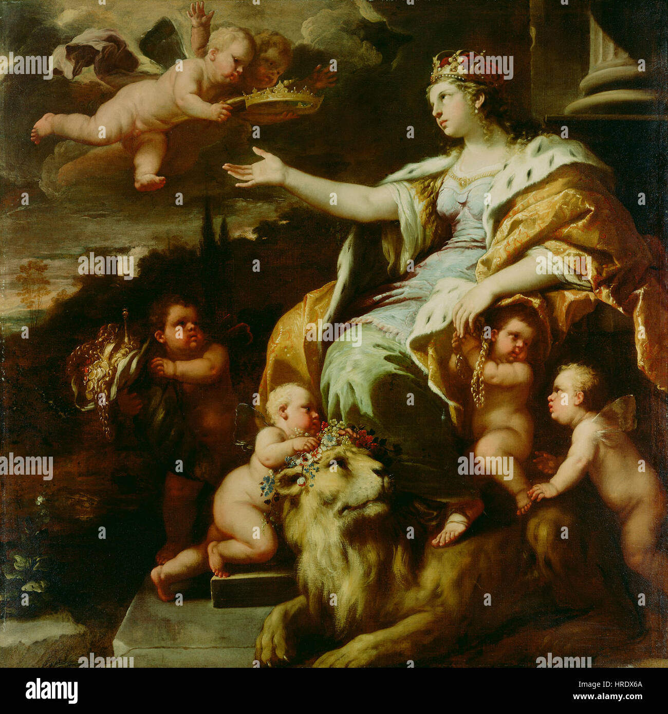 Luca Giordano - Allegory of Magnanimity - 69.PA.28 - J. Paul Getty Museum Stock Photo