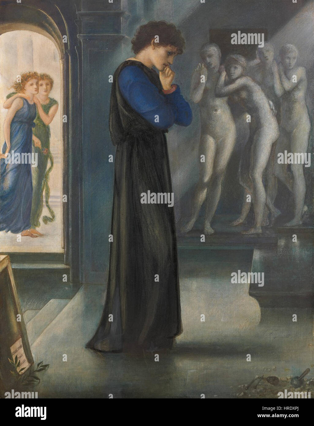 Edward Burne-Jones - Pigmalione - I desideri del cuore Stock Photo