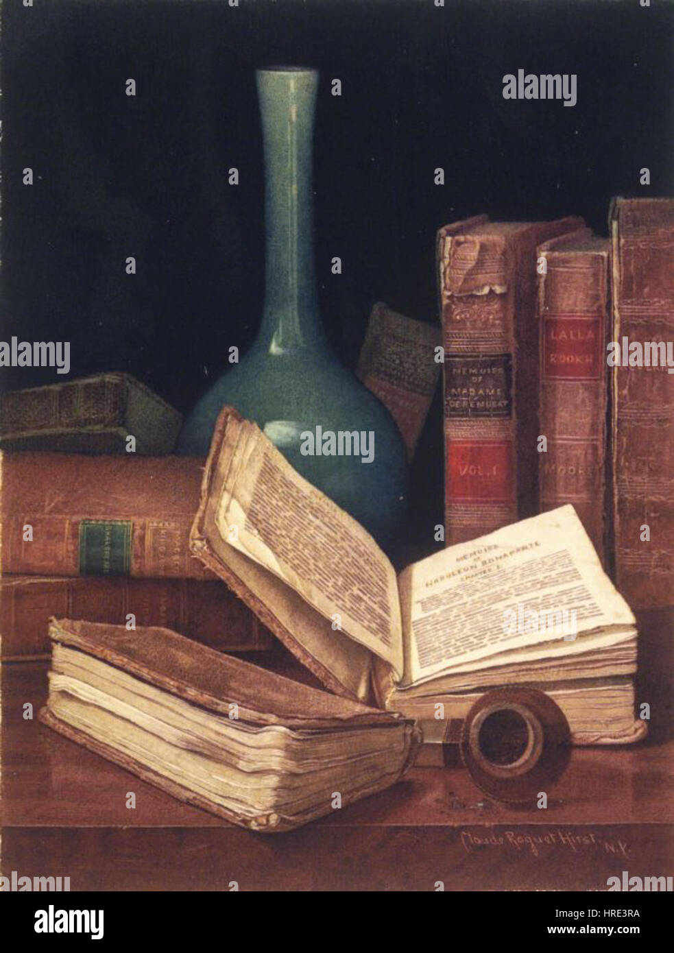 Brooklyn Museum - The Bookworm's Table - Claude Raguet Hirst Stock Photo