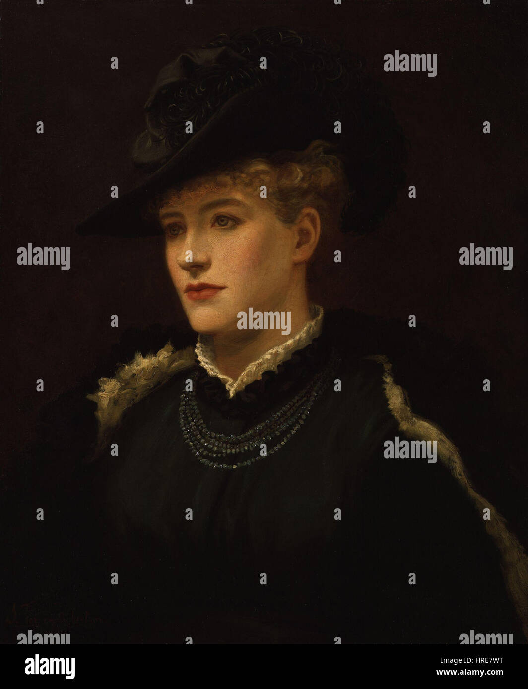 Dame (Alice) Ellen Terry by Sir Johnston Forbes-Robertson - Stock Image