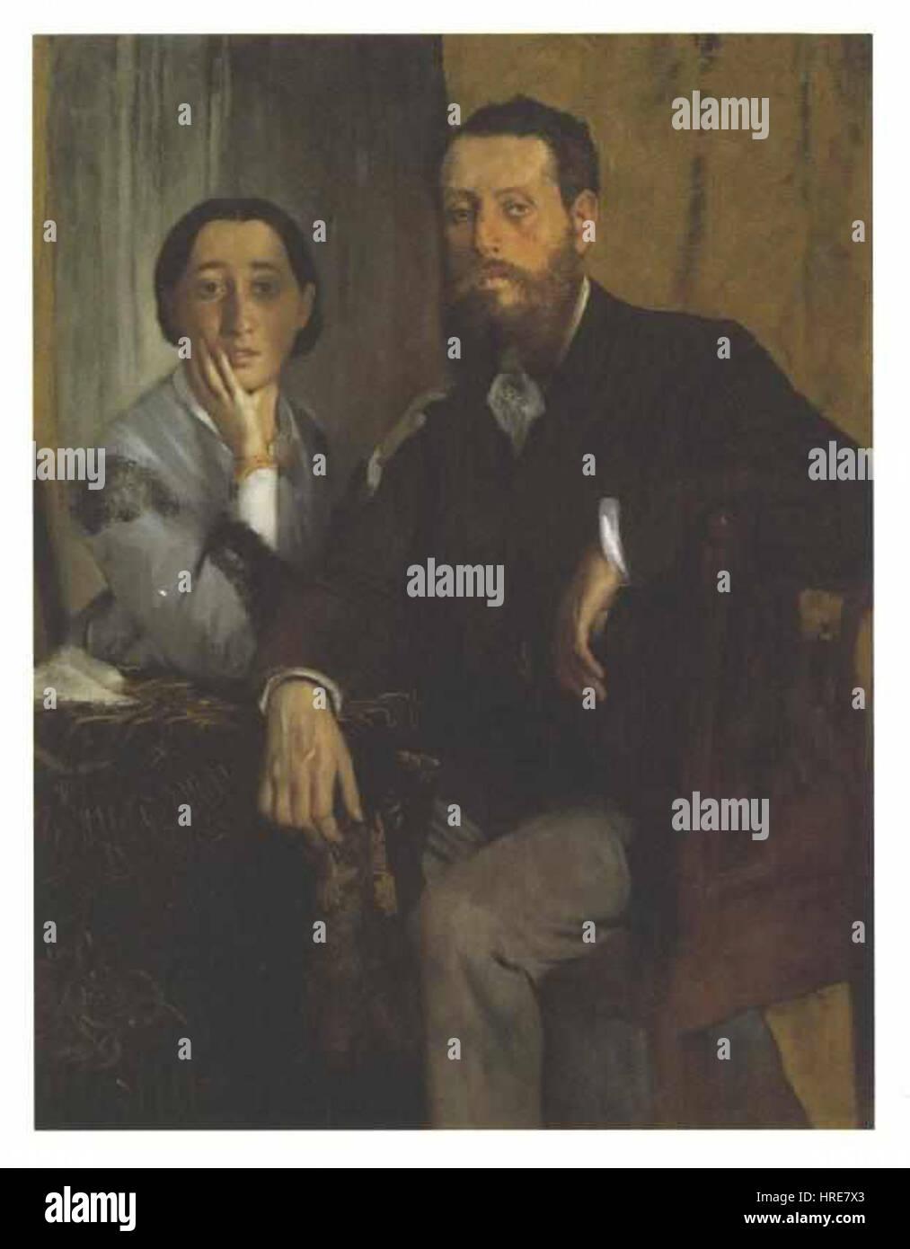 Degas - Das Ehepaar Morbilli - Stock Image