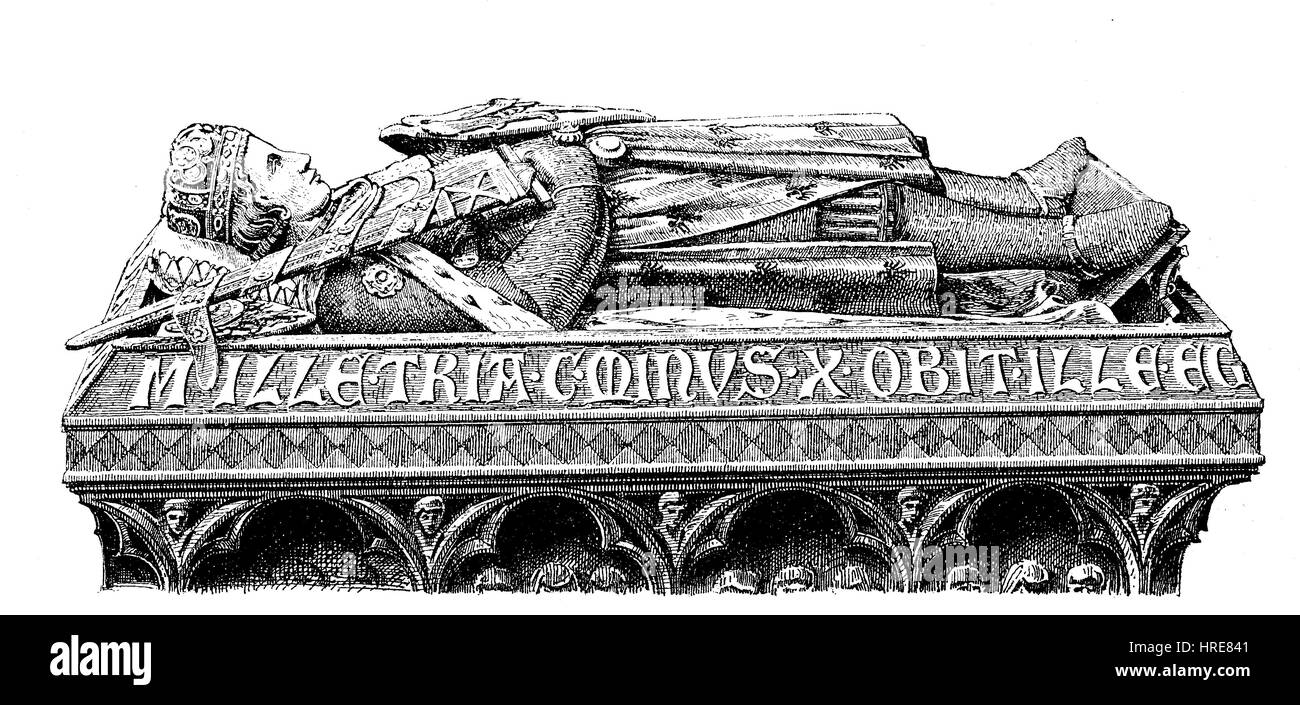 Tomb of Duke Henry IV of Breslau, 13th century, is one of the most beautiful monuments of German art in the Middle - Stock Image