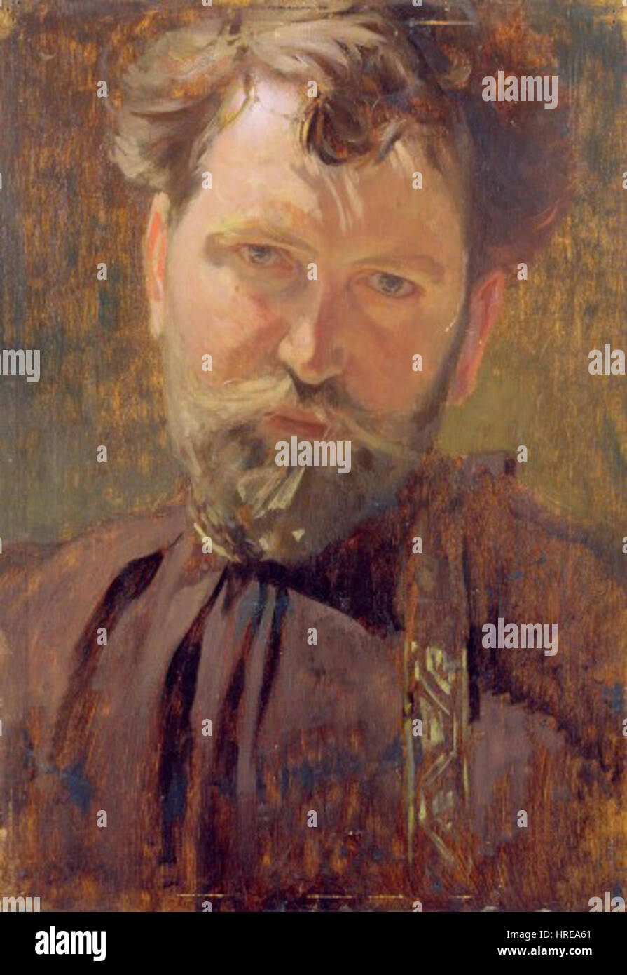 Alfons Mucha Self Portrait - Stock Image