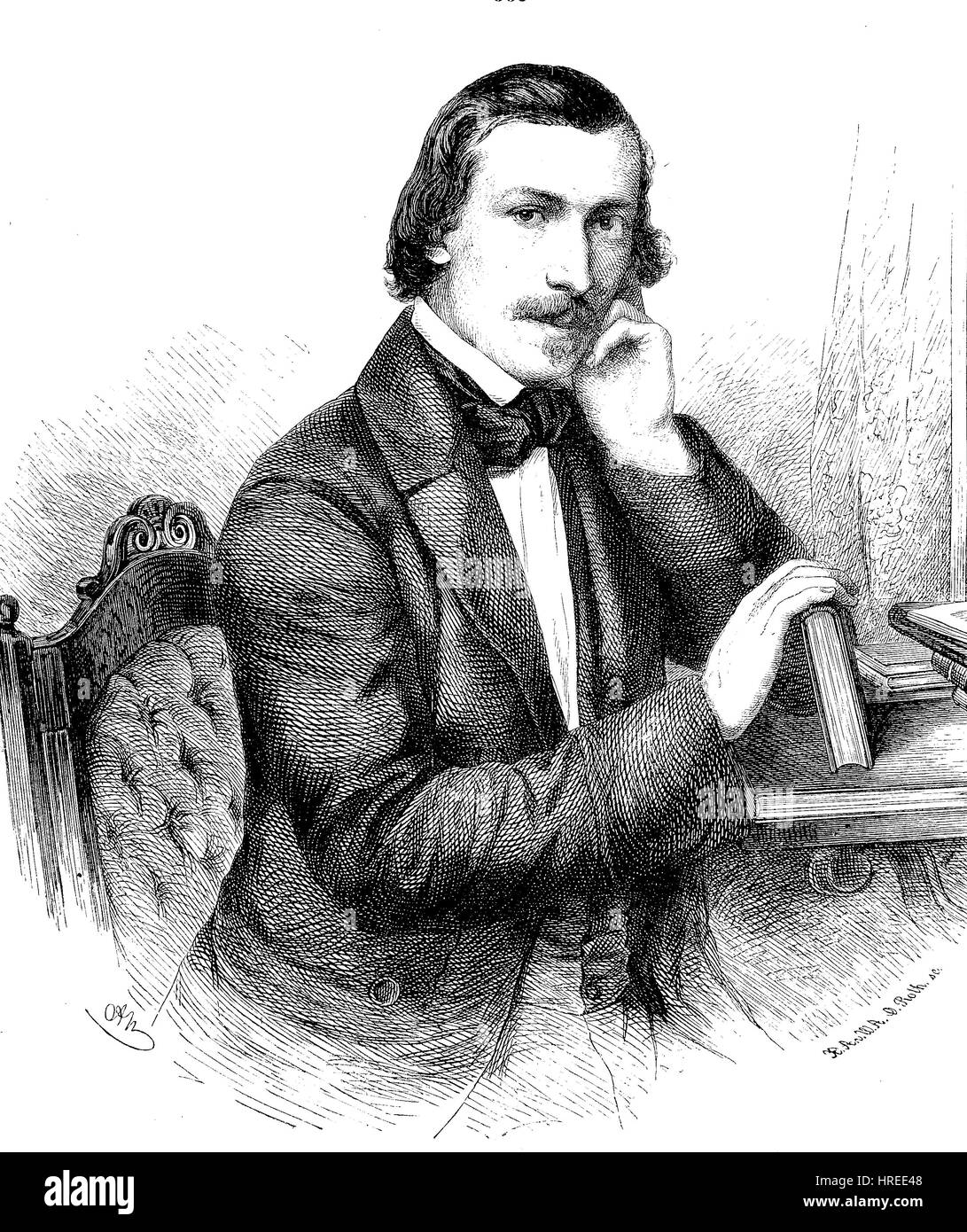 Otto Eduard Vincenz Ule, 1820 - 1876, was a German writer, known for his popularization of natural sciences,an article - Stock Image
