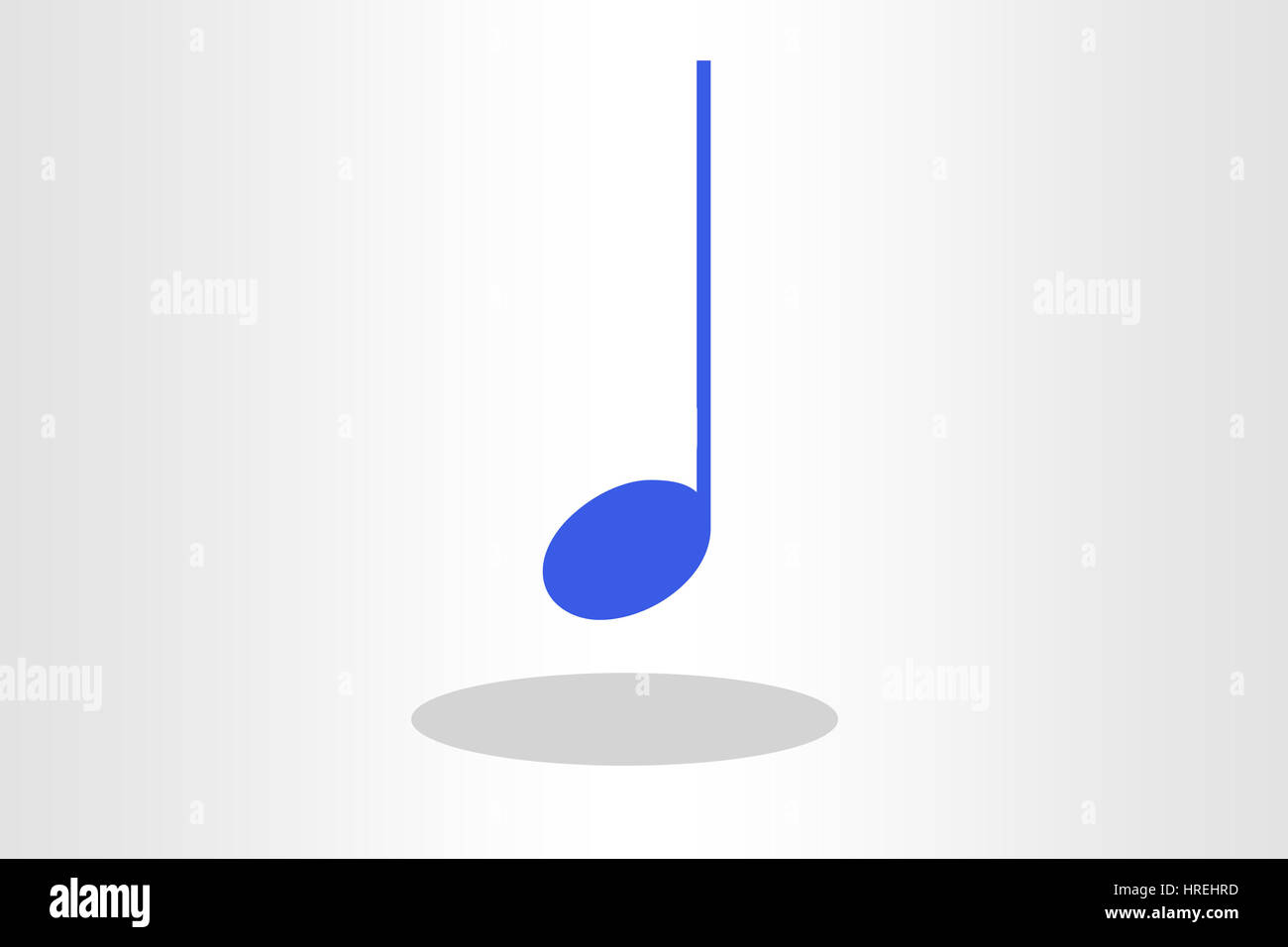 Illustration of quarter note Stock Photo: 134930977 - Alamy