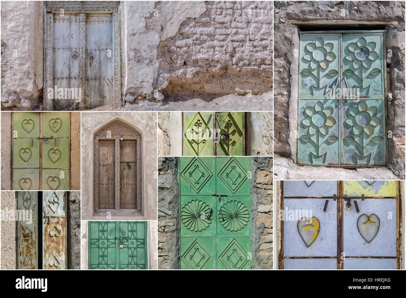 Doors of Oman - Stock Image