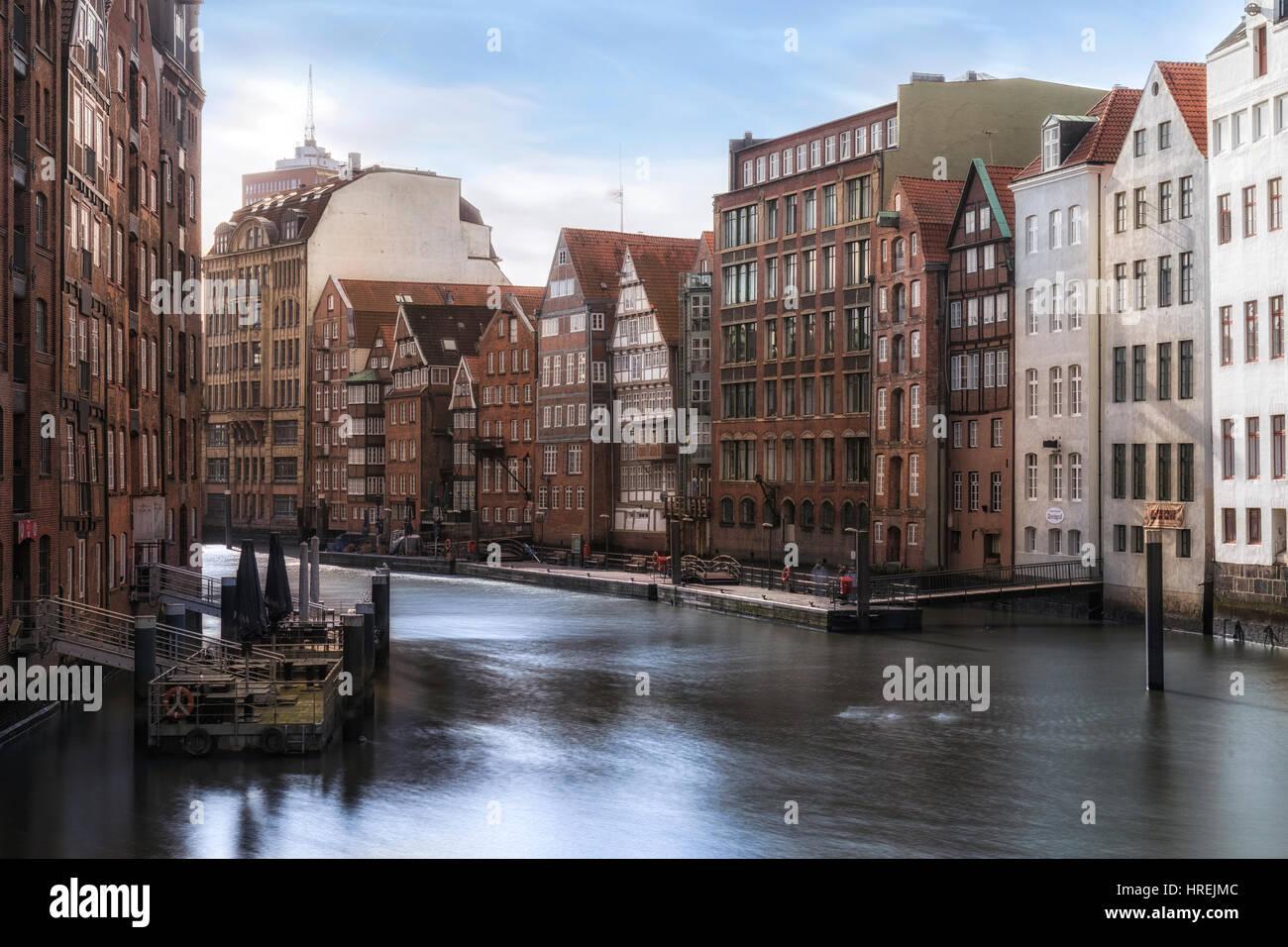 Nikolaifleet, Hamburg, Germany, Europe - Stock Image