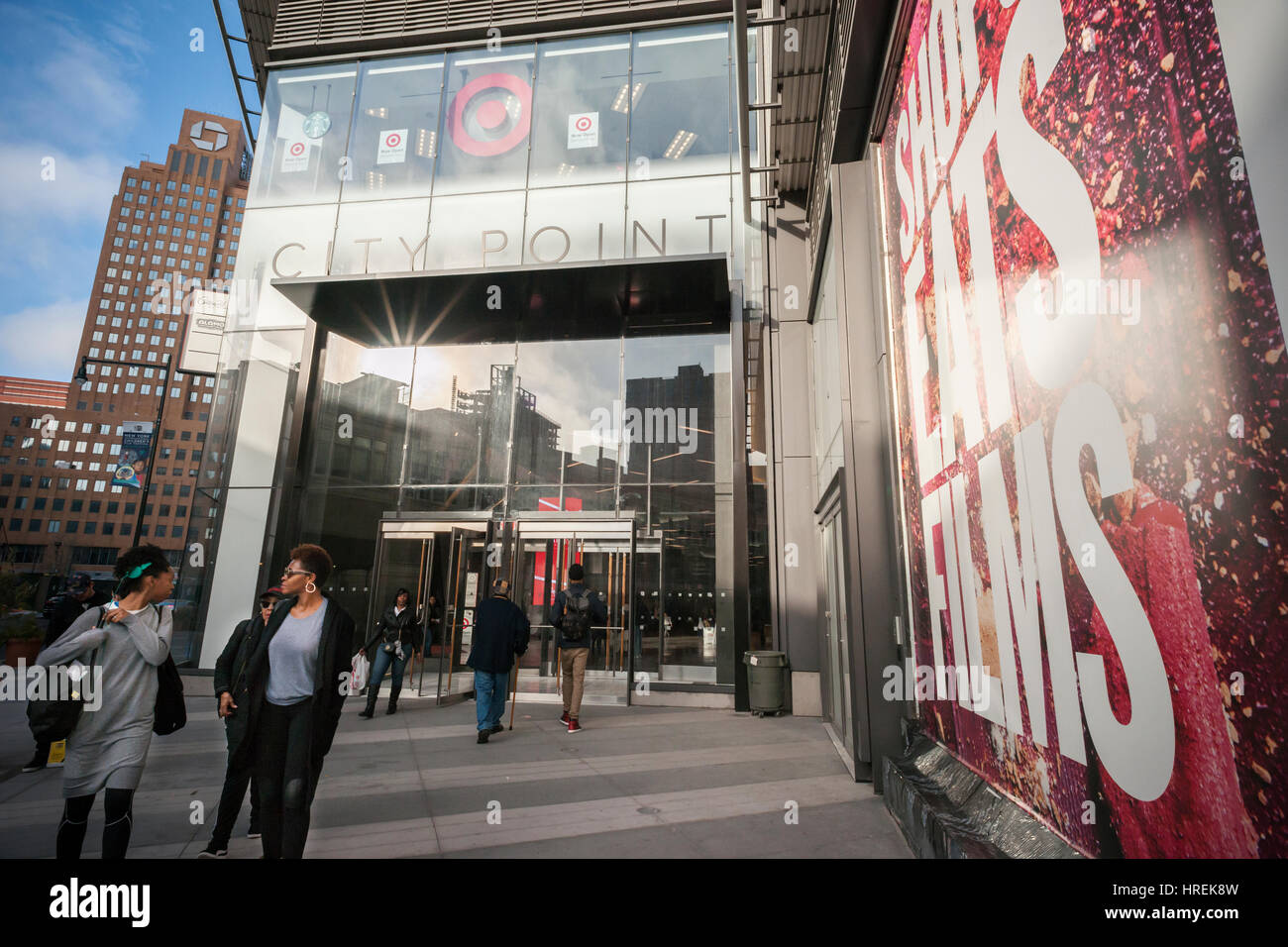 City Point mall in Downtown Brooklyn in New York on Saturday, February 25, 2017. (© Richard B. Levine) - Stock Image