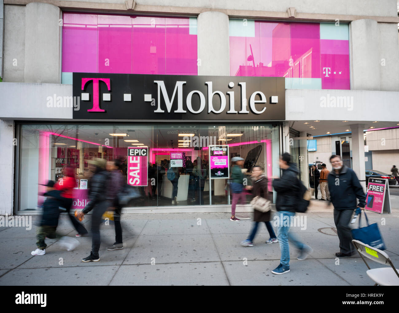 A T-Mobile mobile phone store in Downtown Brooklyn in New