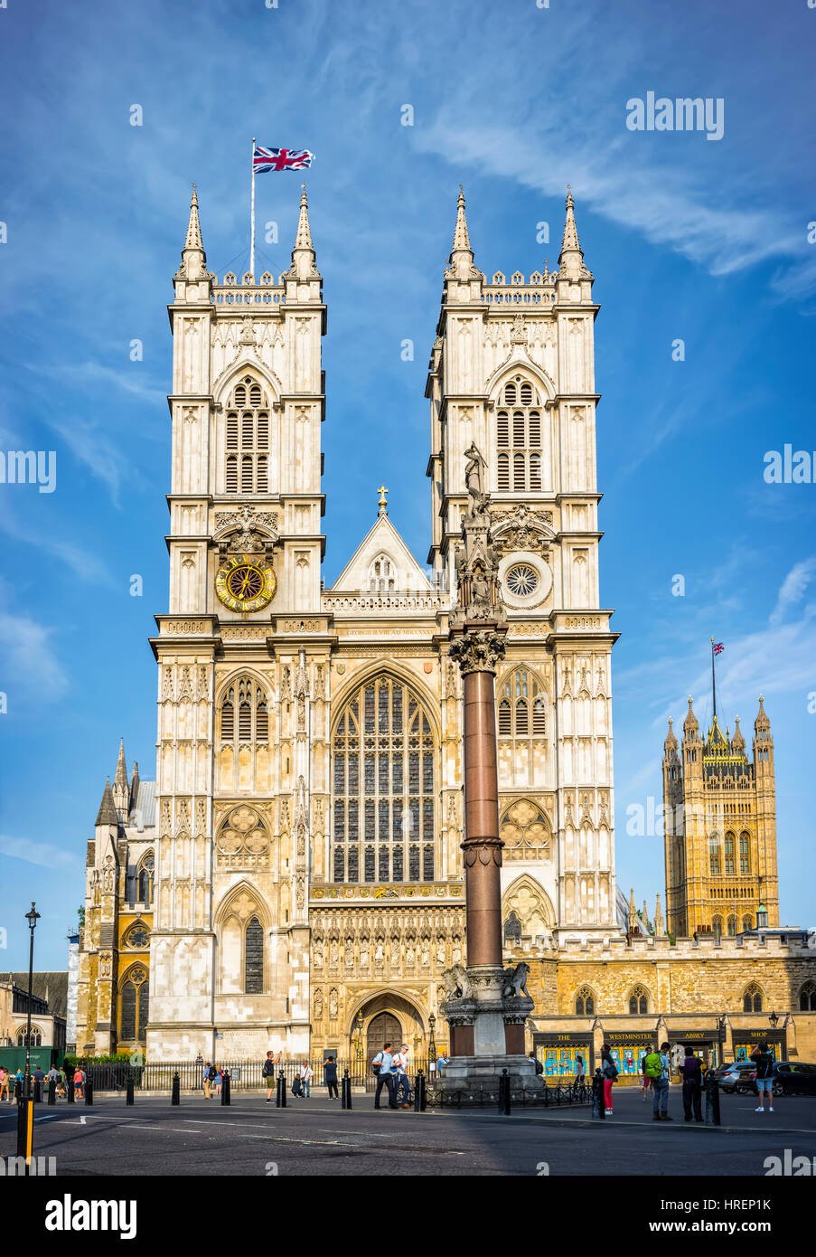 London, United Kingdom - July 3rd, 2015: Westminster Abbey founded in the 7th century is one of the most notable - Stock Image