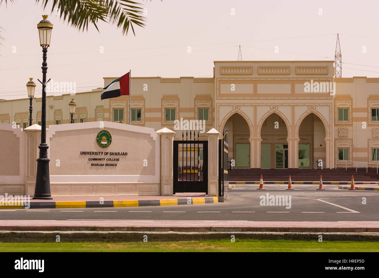 Sharjah United Arab Emirates University Of Sharjah Stock Photo Alamy
