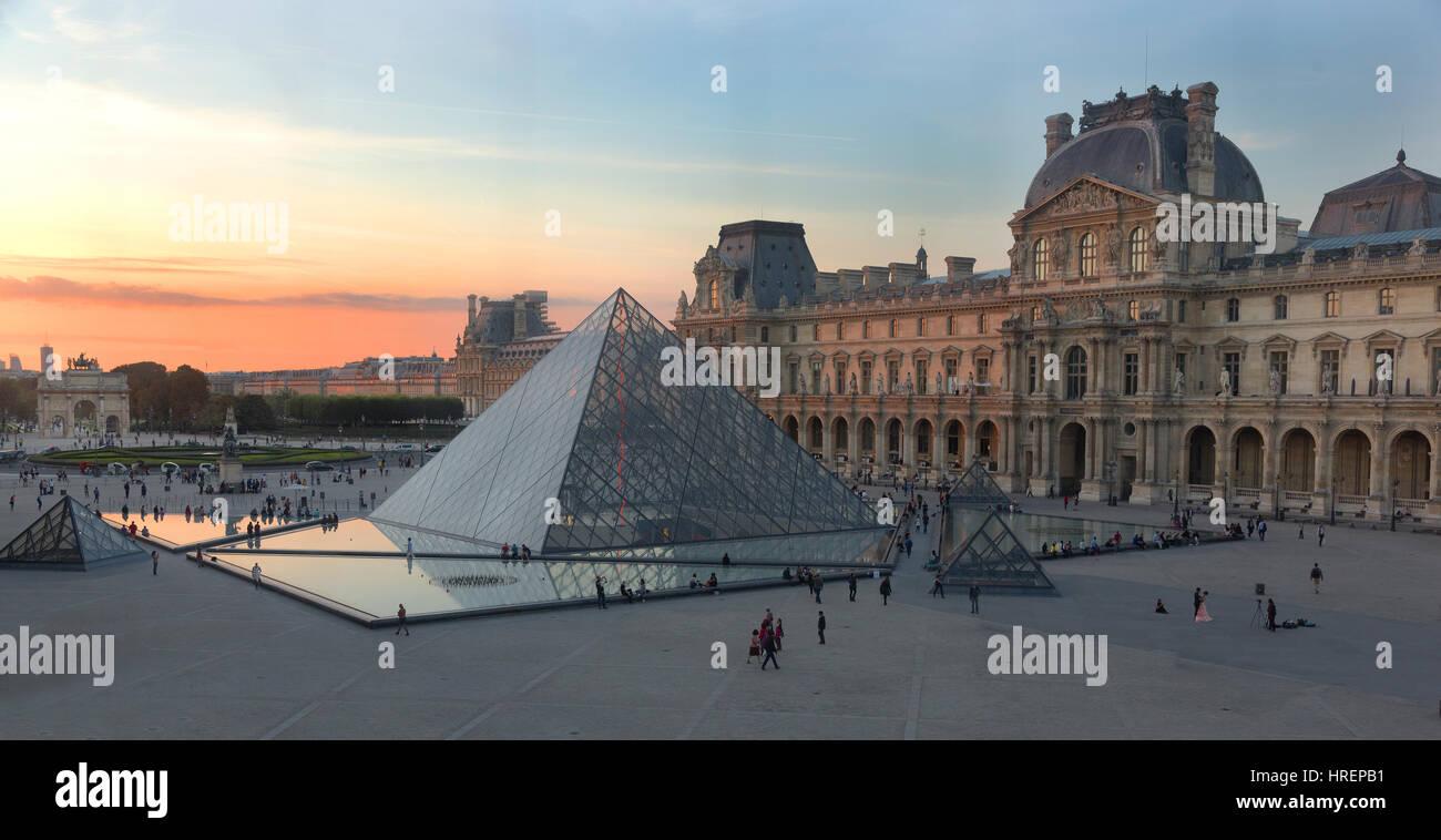 Louvre, Paris, France - Stock Image