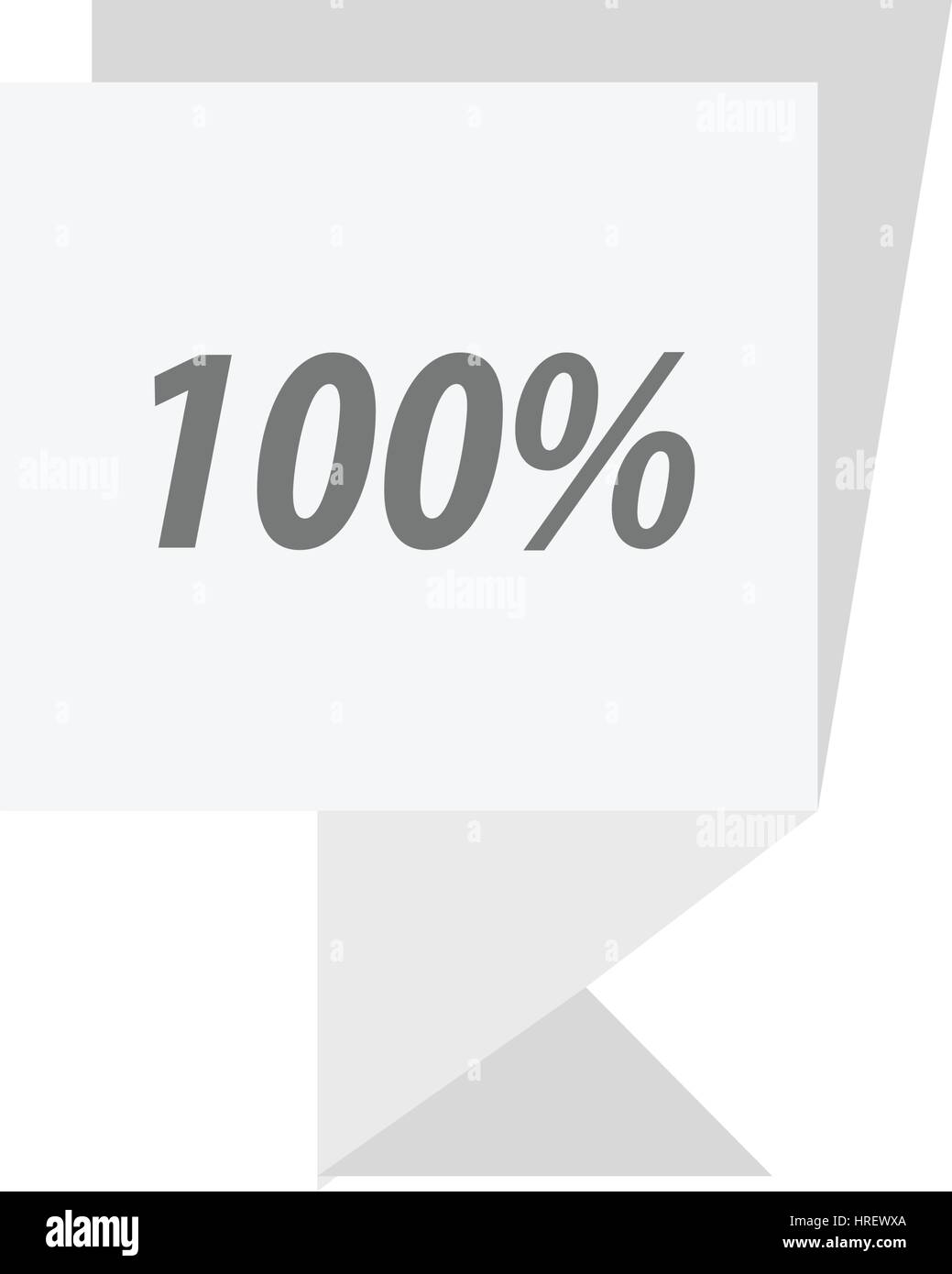label  hundred percent  White color - Stock Vector