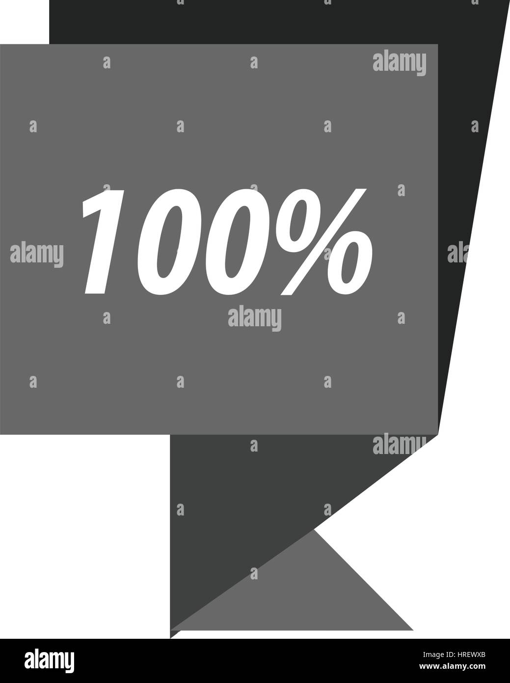 label  hundred percent black color - Stock Vector