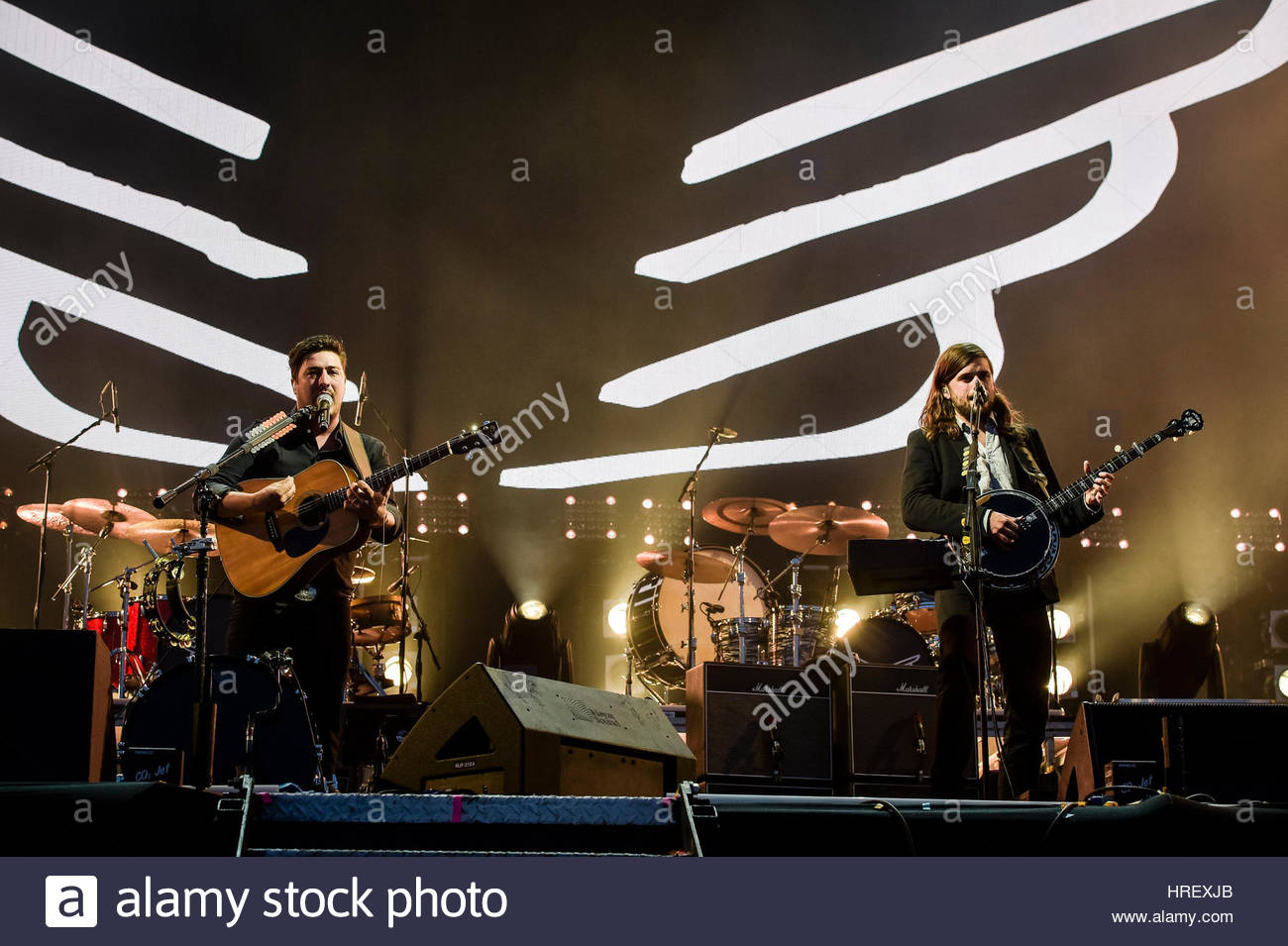 File photo dated 28/05/16 of Mumford and Sons, who will headline this summer's Latitude festival, organisers - Stock Image