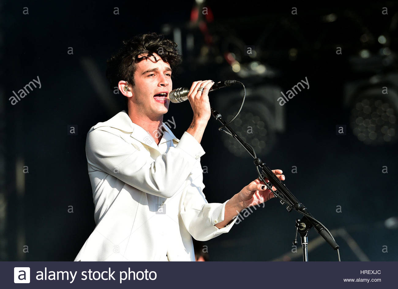 File photo dated 25/06/16 of Matthew Healy of The 1975, who will headline this summer's Latitude festival, organisers - Stock Image