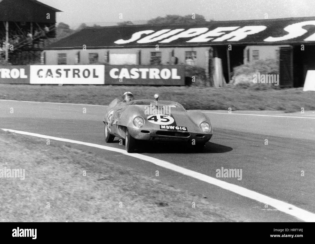 I.Burgess in Elva Climax, R.A.C. Tourist Trophy, Goodwood 13/9/58 - Stock Image
