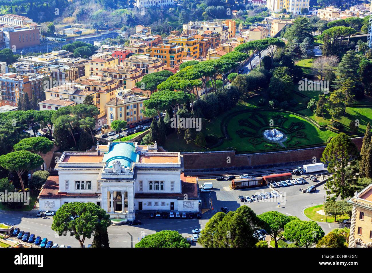 Stazione Ferroviaria Vaticano, the Vatican Railway station, Vatican city, Rome, Italy - Stock Image