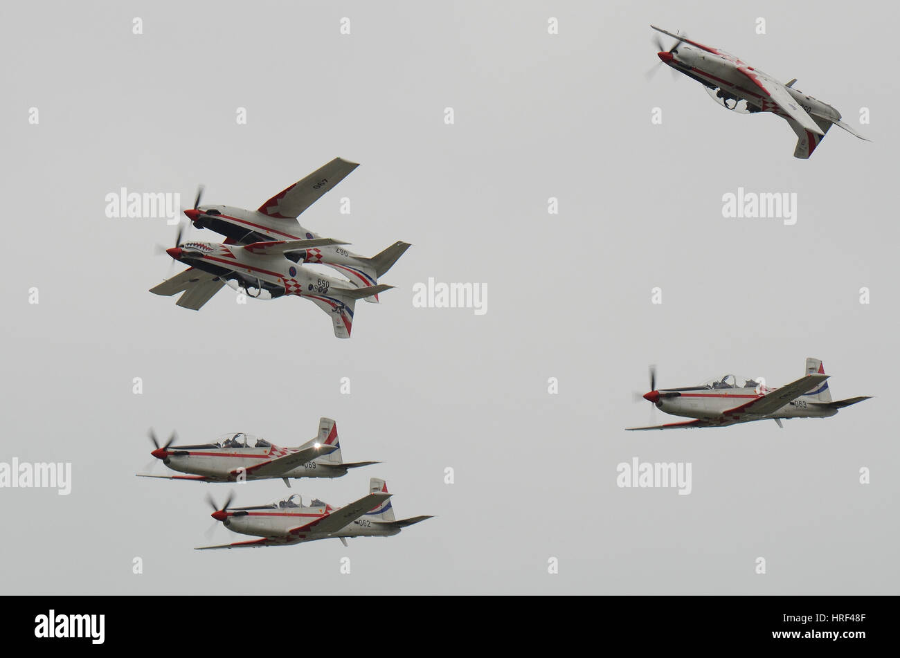 Croatian display team Wings of Storm 'Krila Oluje' at the Royal International Air Tattoo, Fairford. Space - Stock Image