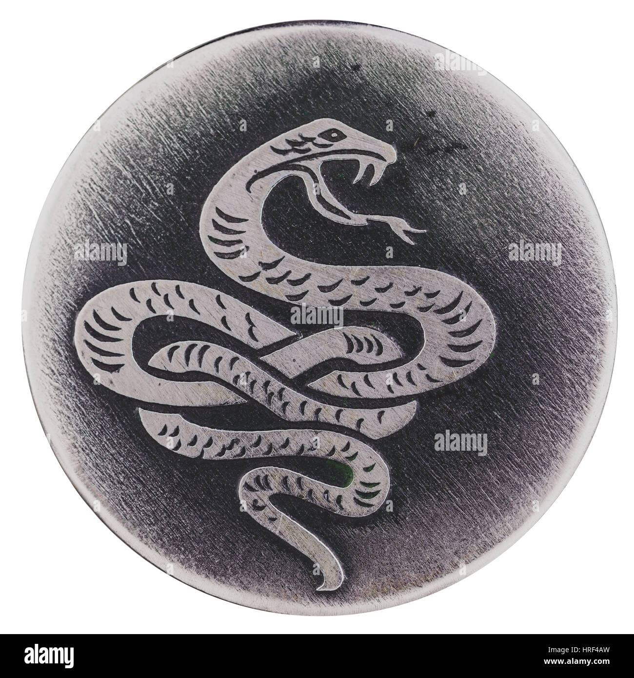 The snake - a symbol of wisdom and vitality, the guardian of life and health. - Stock Image