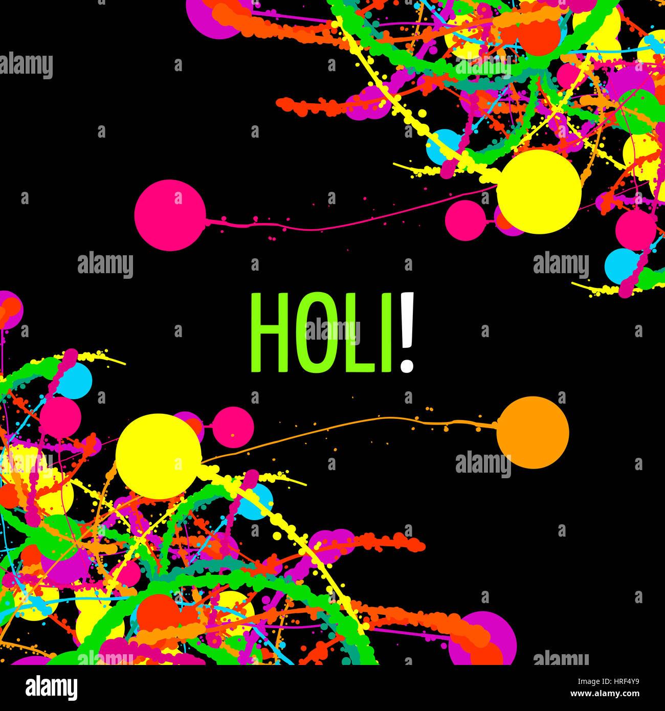 Happy Holi Festival Colors Greeting Stock Photos Happy Holi